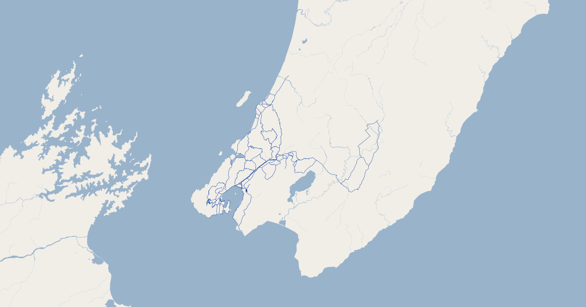 Wellington Cycle Routes - Wellington Region | GIS Map Data | John ...
